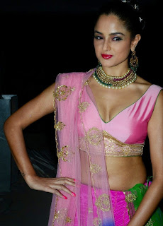 Asmitha Sood in Cute Spicy Pink Choli and Saree HQ Pics must see